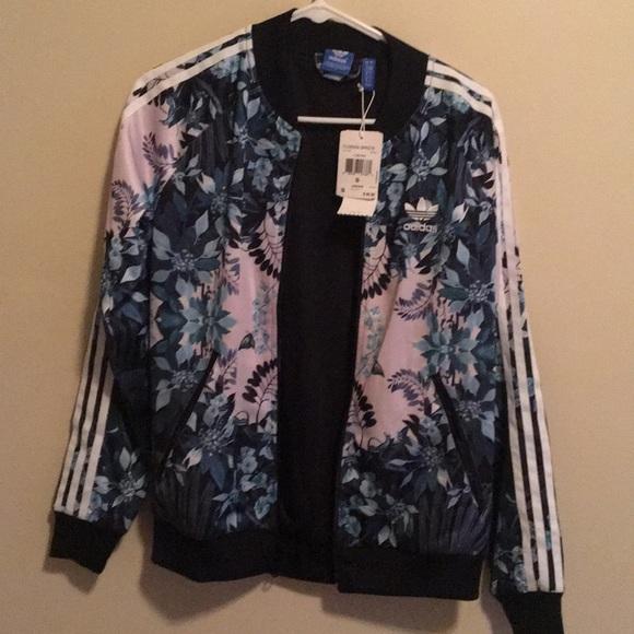 adidas Jackets & Blazers - Adidas Florera Graphic Jacket